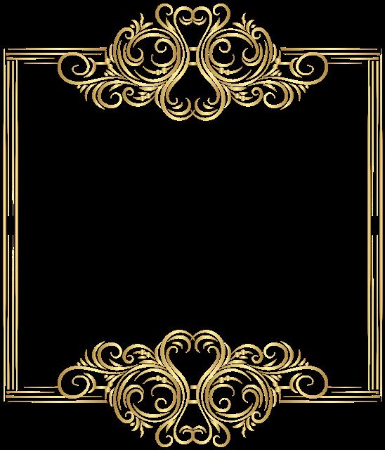 金色简约花纹边框图片