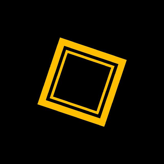 黄色创意边框
