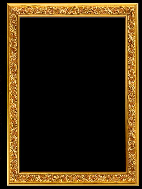 欧式金色边框图片