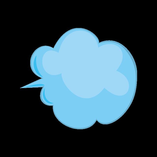 蓝色云彩对话框
