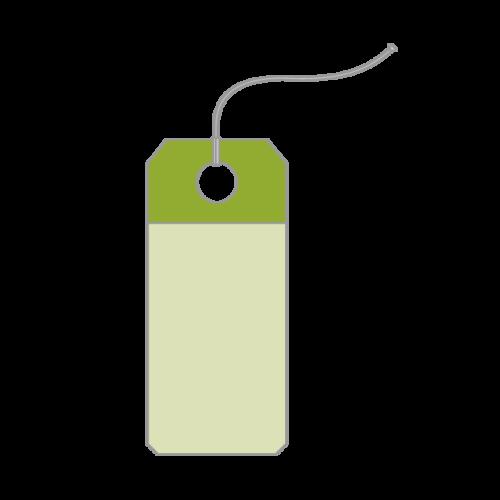 绿色商品吊牌