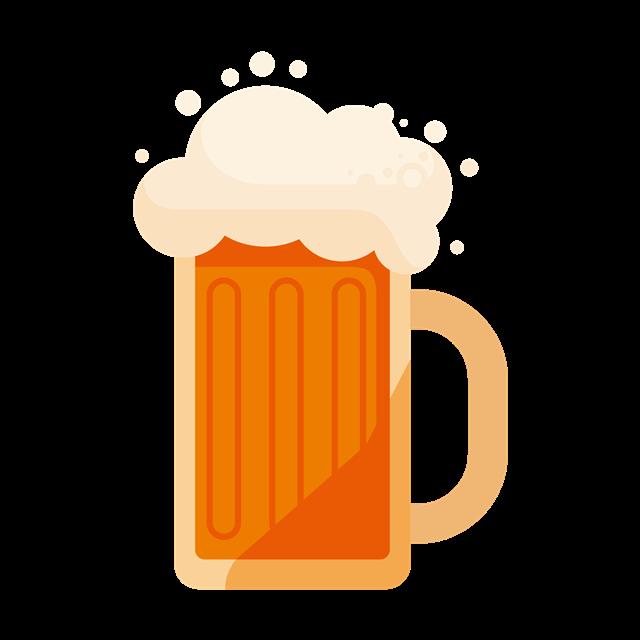 一杯啤酒矢量图