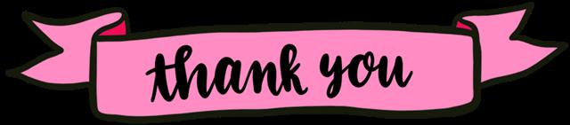 粉色thankyou条幅