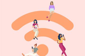 互联网WiFi主题背景图片