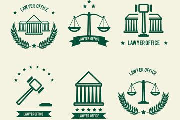 法律元素主题图标素材