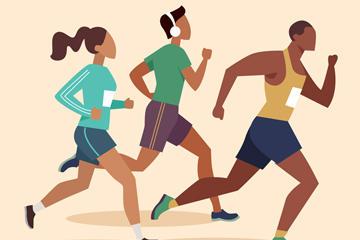 跑步健身人物素材