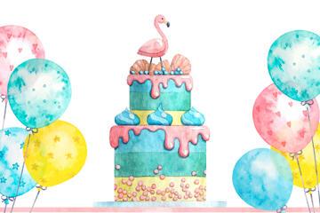 双层蛋糕矢量图