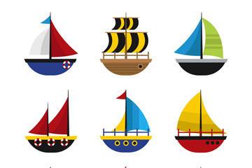 卡通帆船图片
