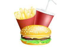 卡通快餐图片