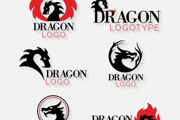 中国龙元素创意设计logo图片