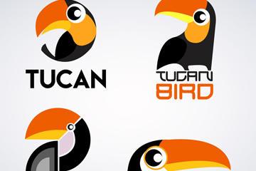 创意啄木鸟标志矢量素材