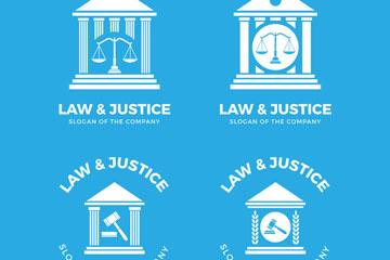 法律公正元素设计素材