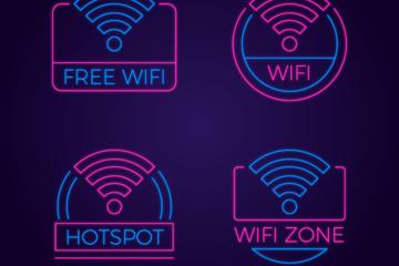 无线网WiFi标志设计