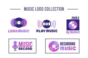 潮流音乐标志设计图