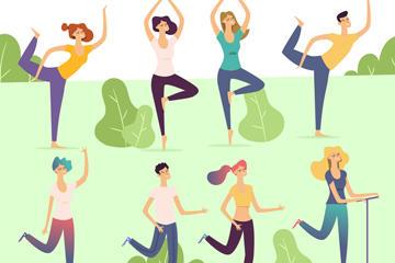 瑜伽矢量图片