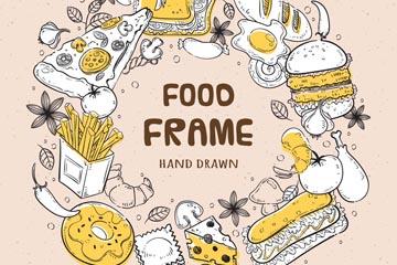 快餐食物简笔画图片
