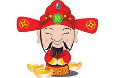 春节财神送祝福素材图片