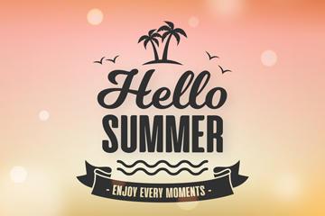 夏天再见创意海报背景