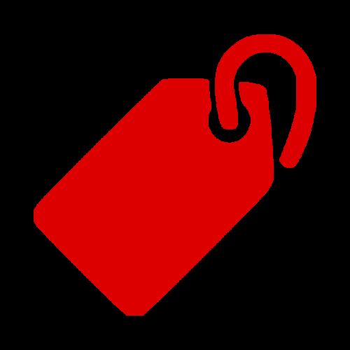 红色价格标签