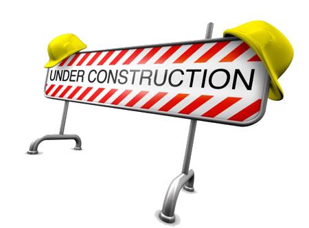 前方施工标志