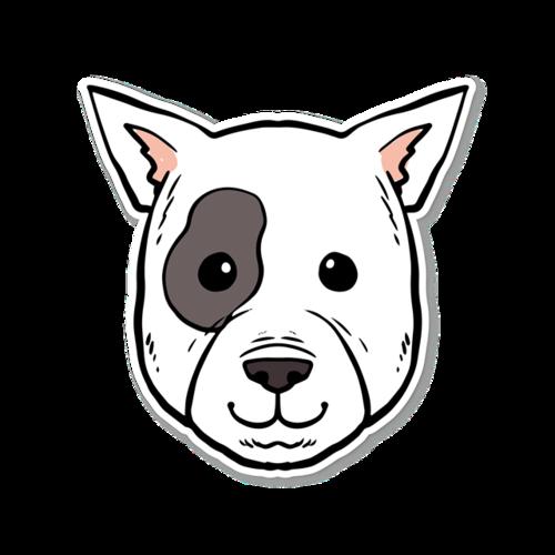 卡通小狗贴纸