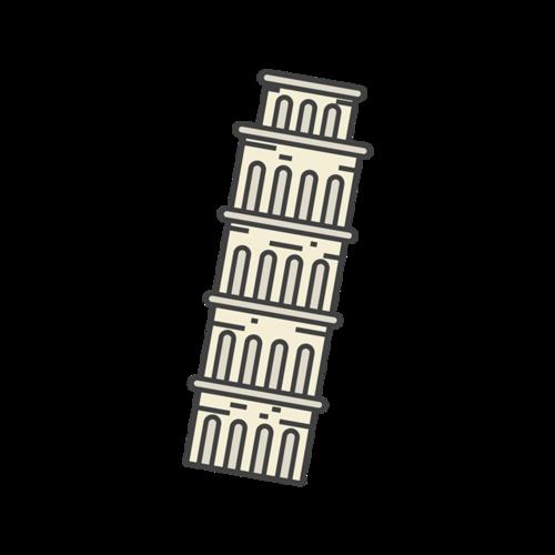 斜塔矢量图