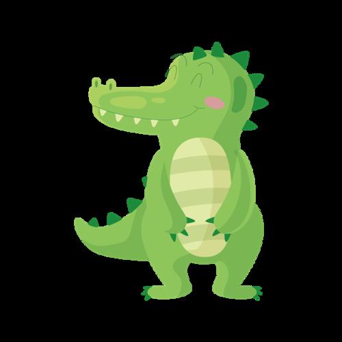 绿色小恐龙矢量图