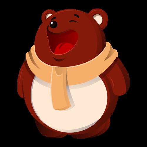 可爱萌熊简笔画