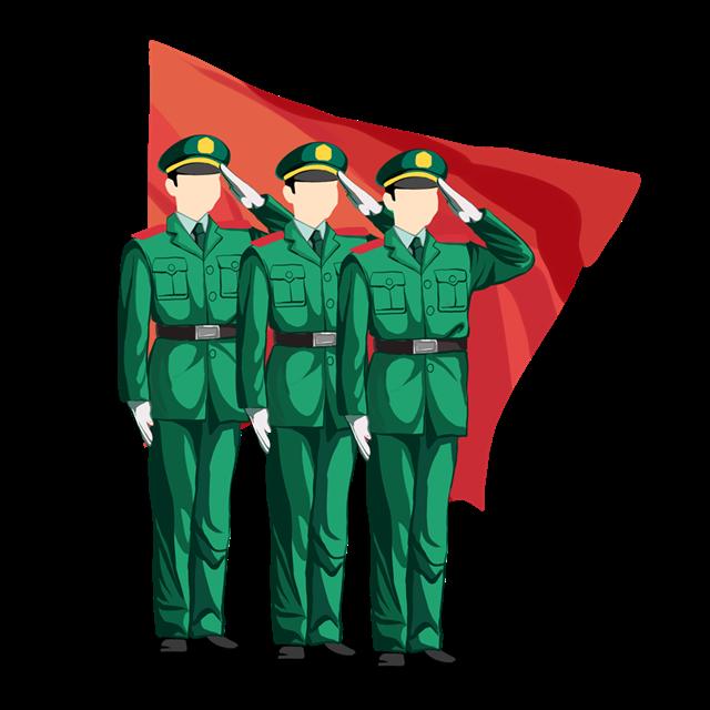 国庆阅兵军人矢量图
