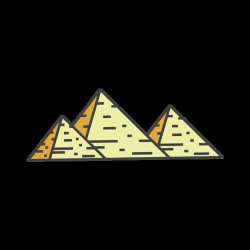 卡通金字塔图片