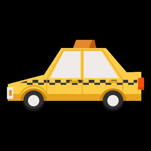 卡通出租车图片