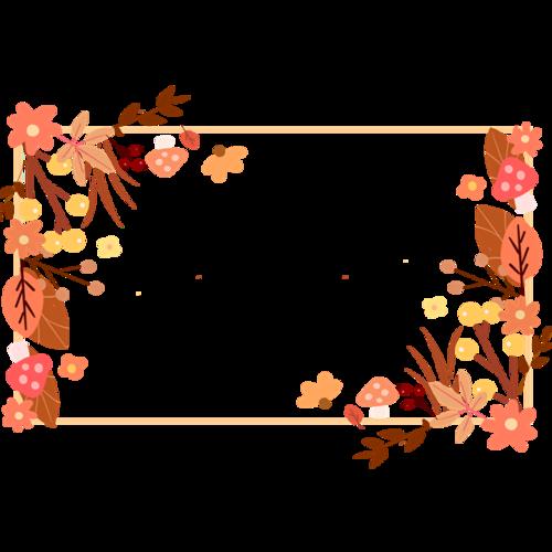 秋天植物树叶边框