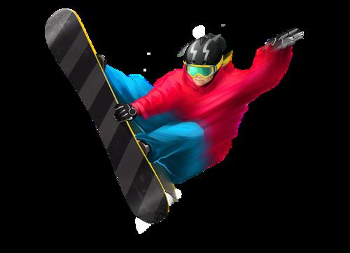 滑雪人物免抠图