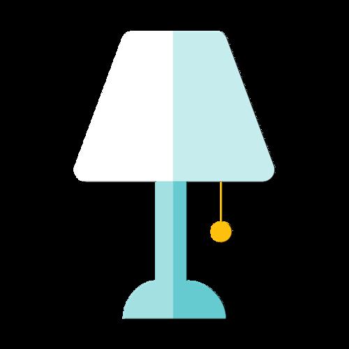 简约台灯扁平化