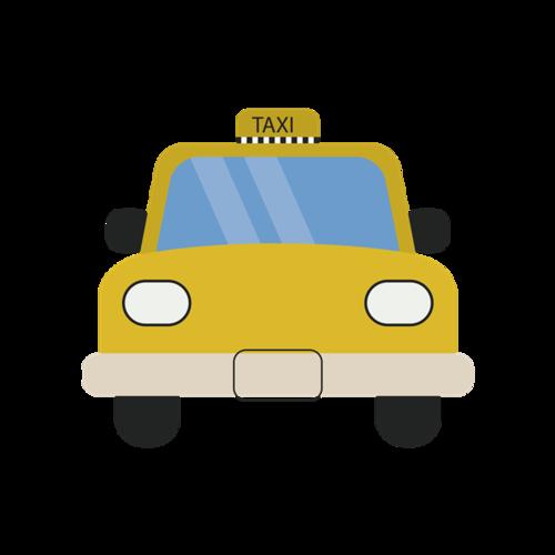 卡通计程车矢量图
