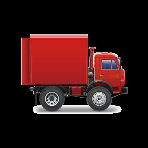 运载卡车矢量图