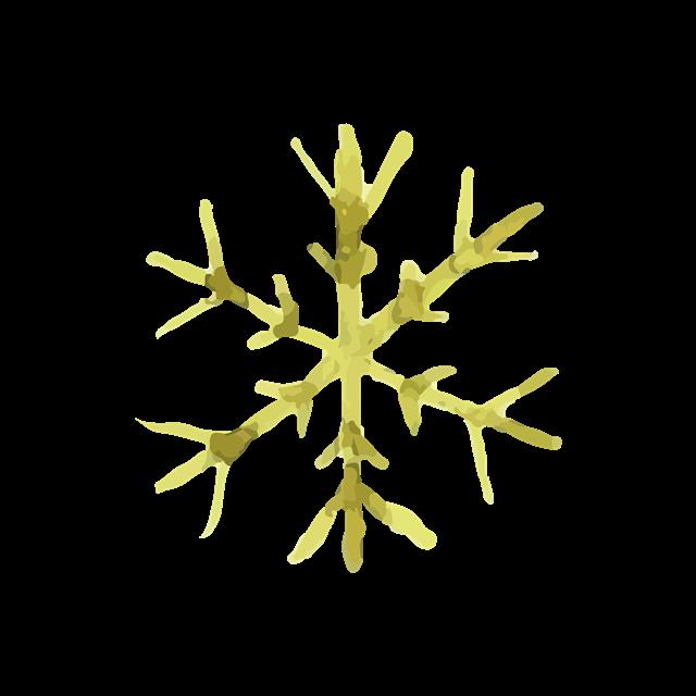 雪花形状叶子