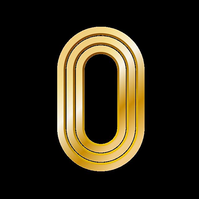 金色倒计时数字0