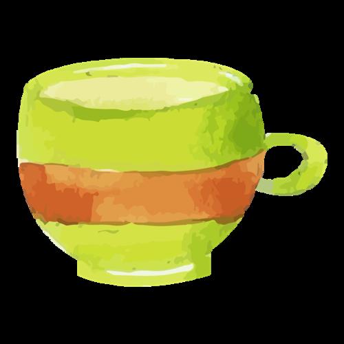 水彩咖啡杯图片