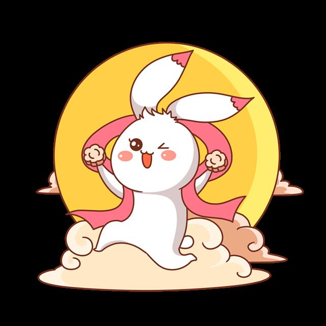 中秋兔子奔月