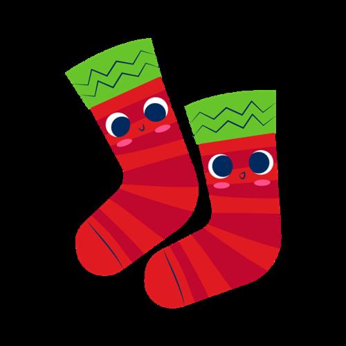 圣诞节袜子简笔画