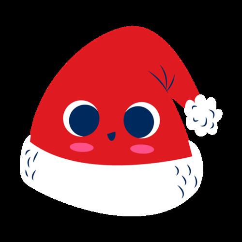 卡通圣诞帽贴纸