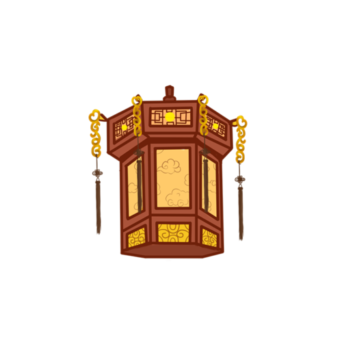 古代华丽灯笼