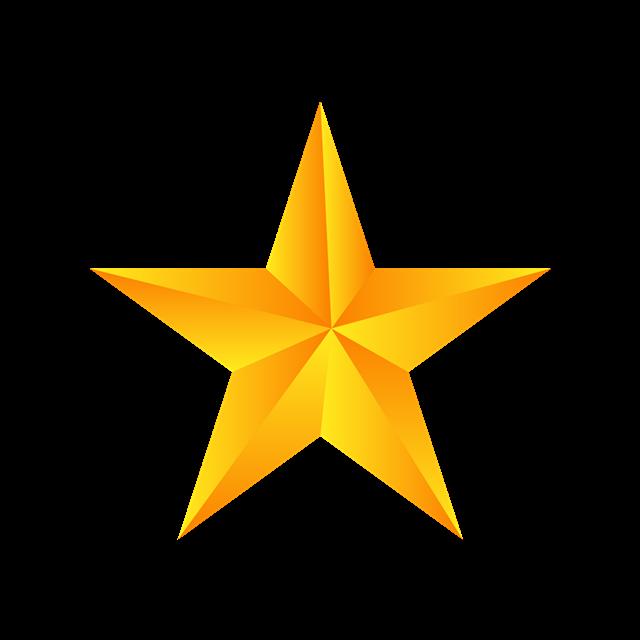 黄色五角星插画