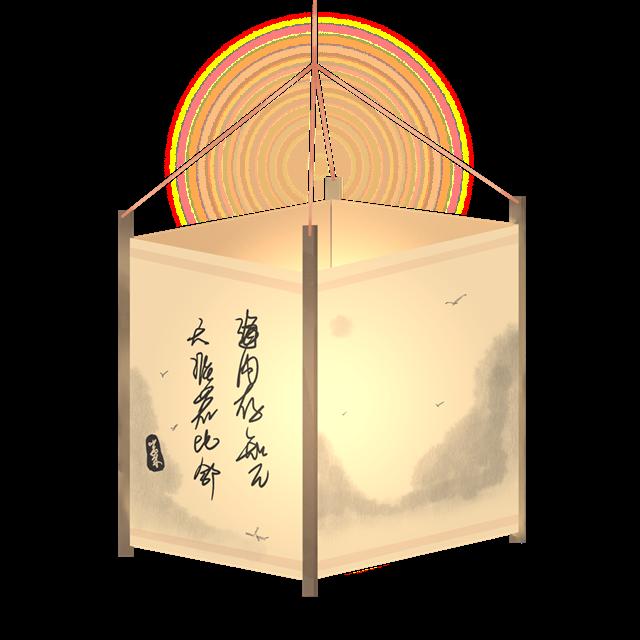 古风山水灯笼