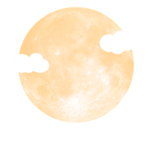 中秋满月云朵免抠图