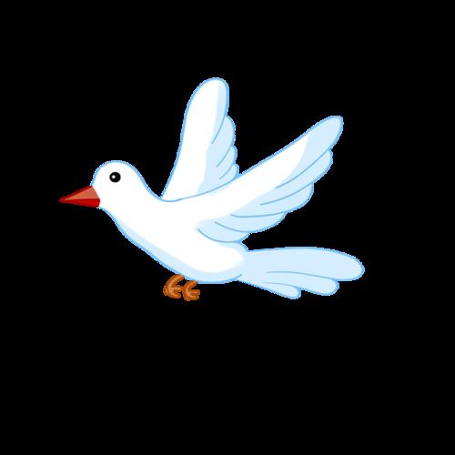 卡通和平鸽插画