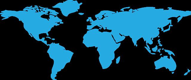 蓝色世界地图背景图