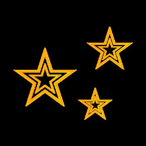 三个五角星