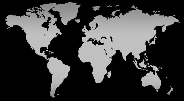 空白世界地图